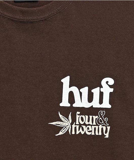 HUF Garden Supply Dark Chocolate Long Sleeve T-Shirt