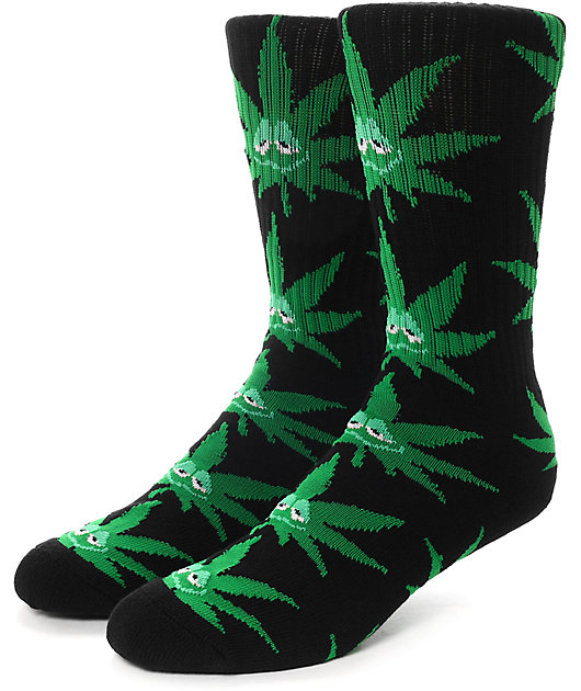 HUF Green Buddy calcetines negros