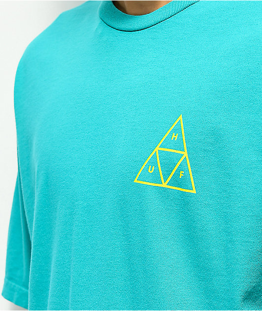 HUF High Tide Triple Triangle Turquoise T-Shirt