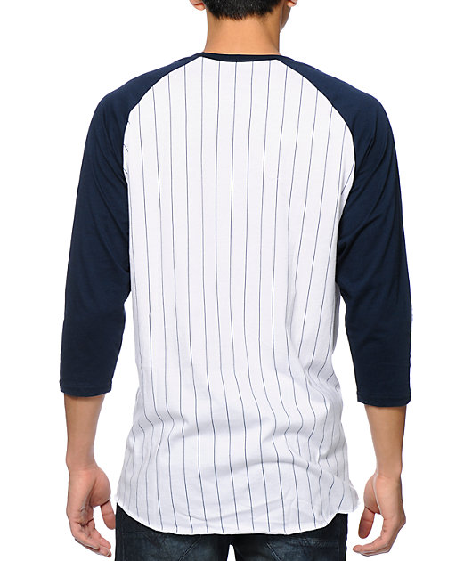 HUF League White & Navy Baseball T-Shirt