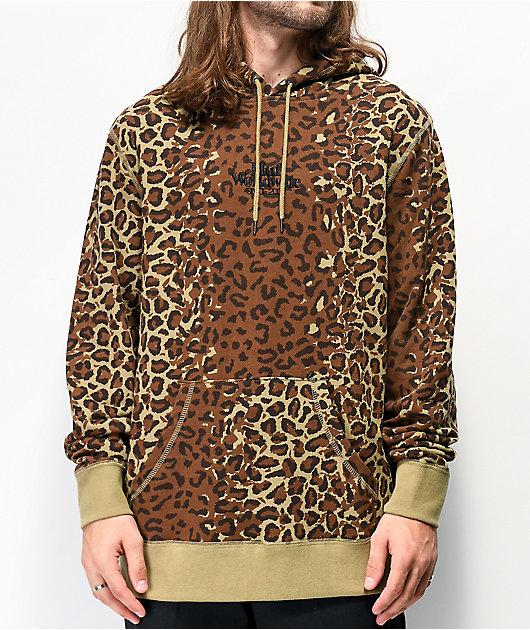 HUF Panthera sudadera con capucha marrón