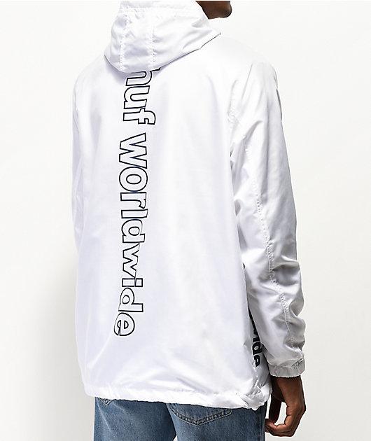 HUF Peak 3.0 White & Blue Anorak Jacket