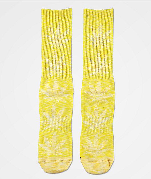 HUF Plantlife Full Melange Aurora Yellow Crew Socks
