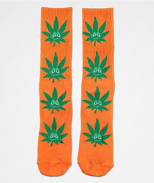 HUF Plantlife Green Buddy Orange & Green Crew Socks