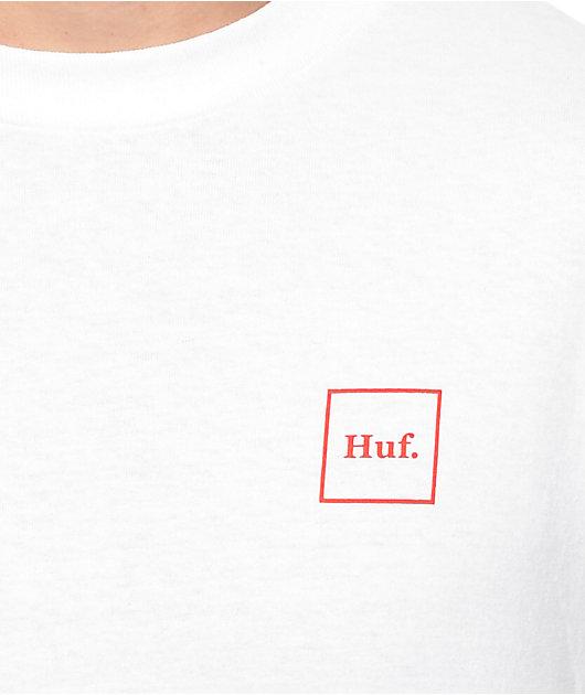 HUF Roses White Long Sleeve T-Shirt