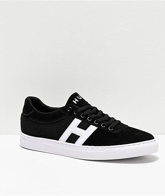 HUF Soto Black \u0026 White Skate Shoes   Zumiez