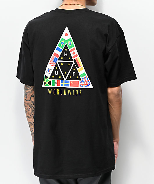 HUF TT Nations Black T-Shirt