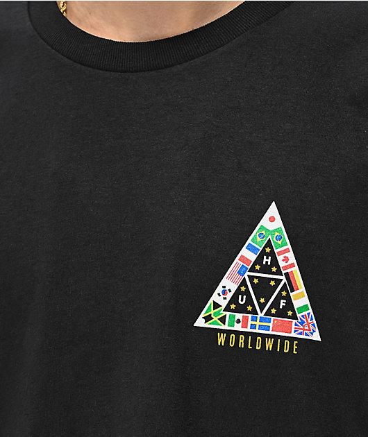 HUF TT Nations camiseta negra