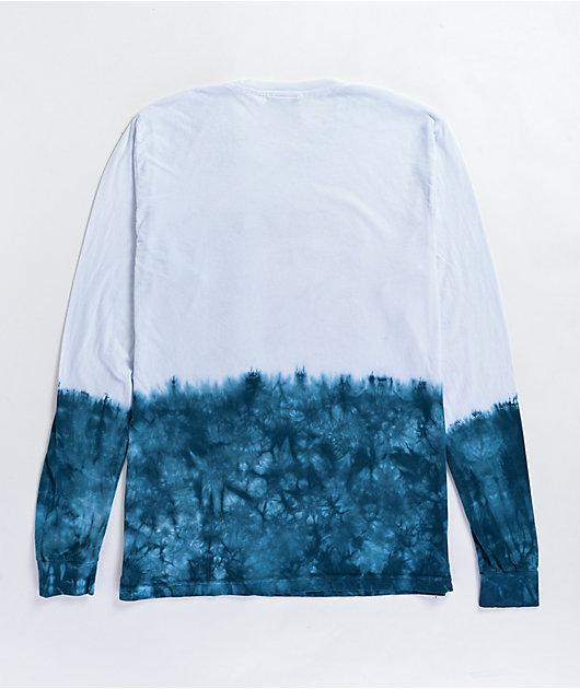 HUF x Godzilla Space White & Blue Tie Dye Long Sleeve T-Shirt