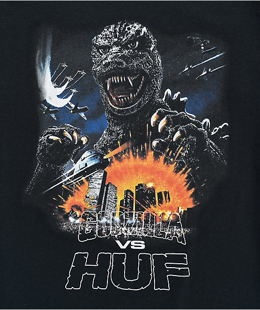 HUF x Godzilla Tour Black T-Shirt