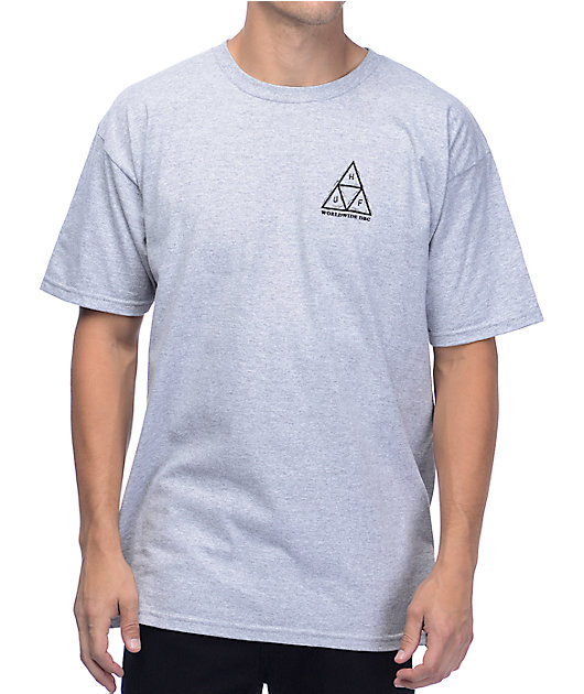 HUF x Peanuts Pig-Pen Triangle Crystal Grey T-Shirt