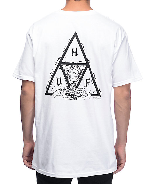 HUF x Peanuts Pig-Pen Triangle White T-Shirt