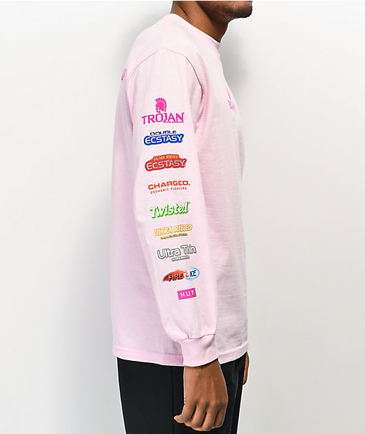 HUF x Trojan Pleasure Pack Pink Long Sleeve T-Shirt