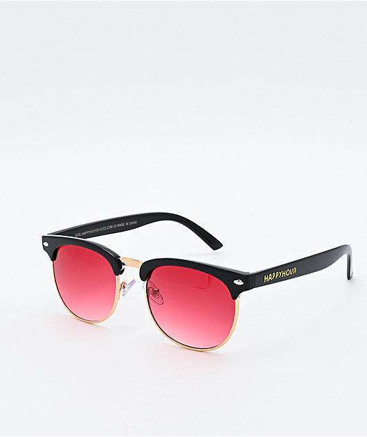 Happy Hour G2 Black & Red Desert Sunglasses