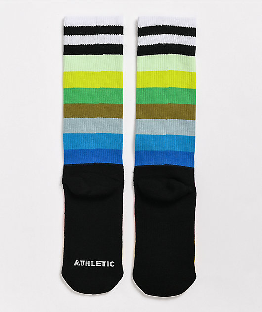 Happy Socks Rainbow Stripe Multicolor Crew Socks