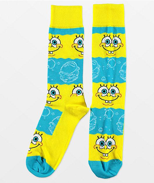 Happy Socks x SpongeBob SquarePants Say Cheese Burger Crew Socks