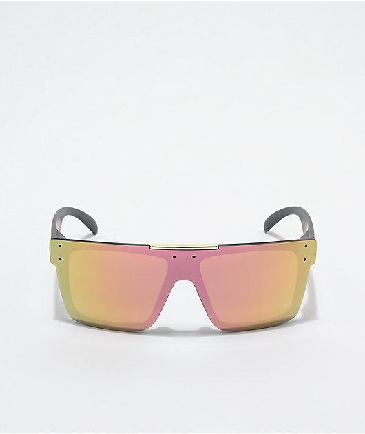 Heat Wave Quatro Black & Rose Gold Sunglasses