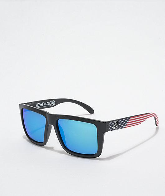 Heat Wave Vise XL Stars & Stripes Galaxy Blue Sunglasses