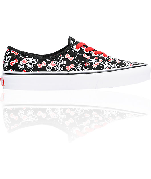 Hello Kitty Vans Authentic Black Shoes | Zumiez