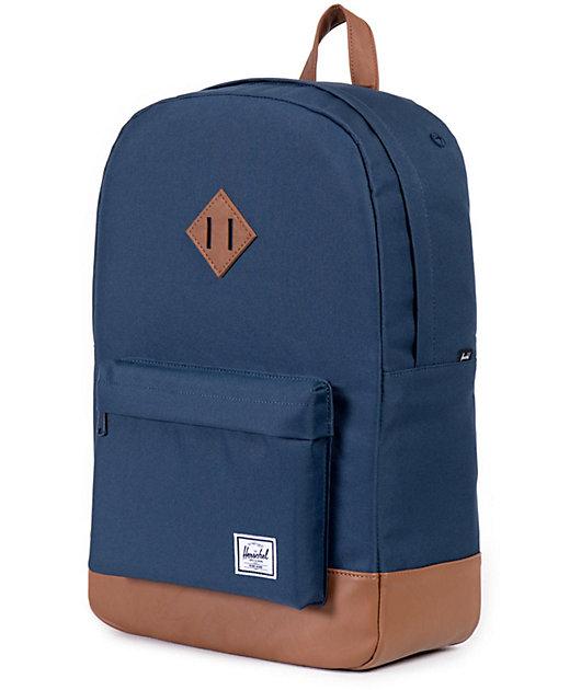 Herschel Supply Co. Heritage Navy & Tan Backpack