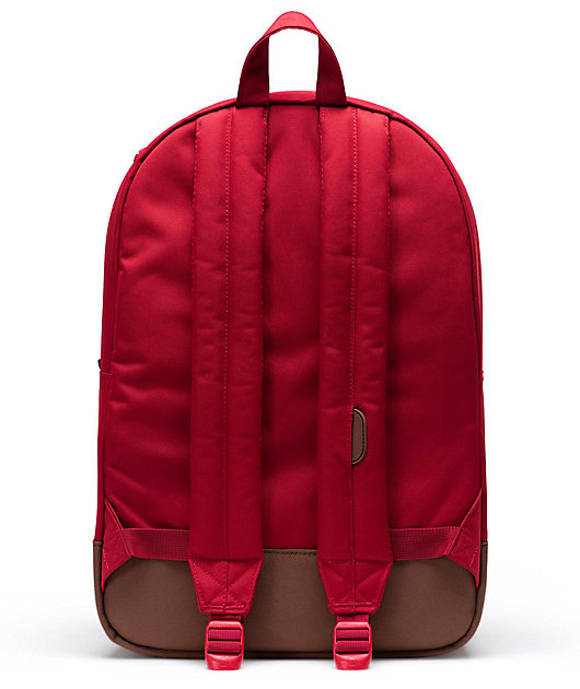 Herschel Supply Co. Heritage mochila roja y marrón