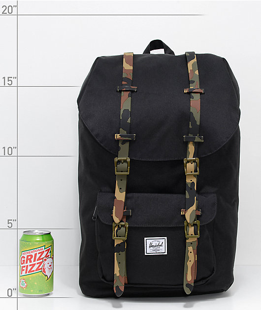 Herschel Supply Co. Little America Black Woodland Camo 25L Backpack