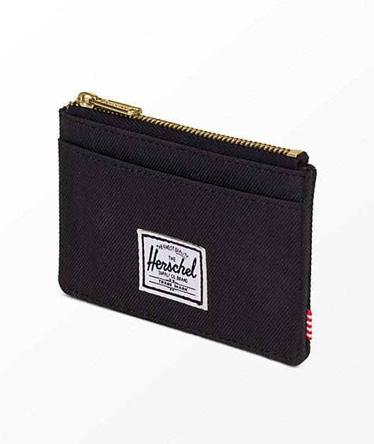 Herschel Supply Co. Oscar Black Zip Cardholder Wallet