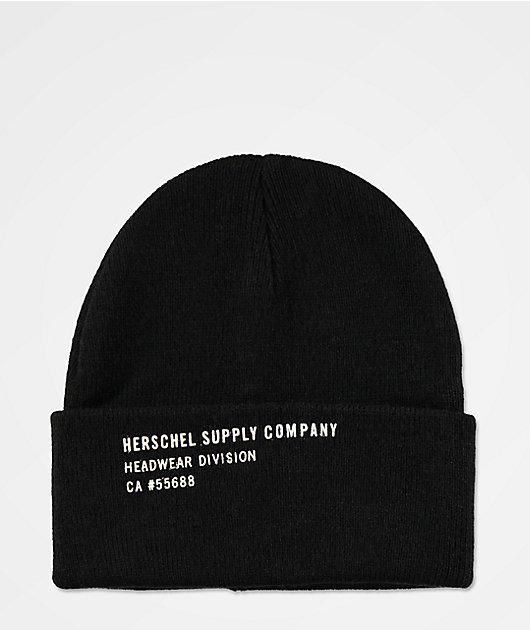 Herschel Supply Co. Print Black Beanie