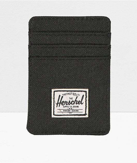 Herschel Supply Co. Raven Black Cardholder Moneyclip Wallet