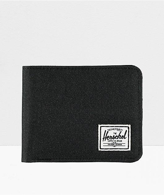 Herschel Supply Co. Roy Black Canvas Bifold Wallet