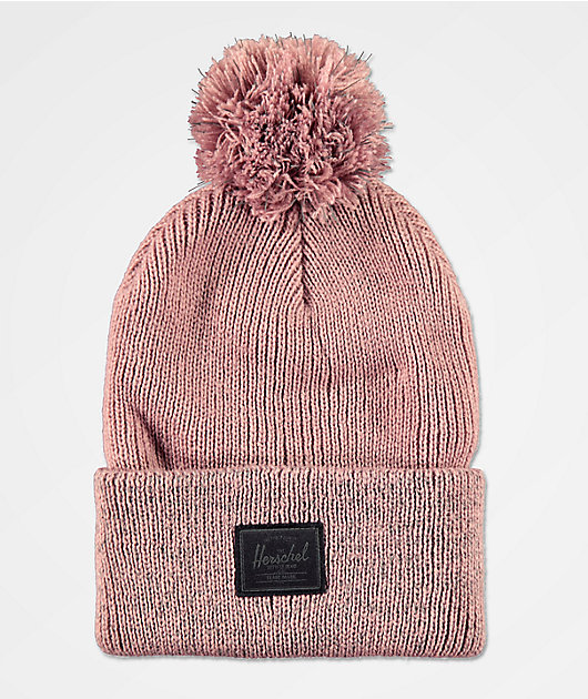 Herschel Supply Co. Sepp gorro rosa reflectante con pompón