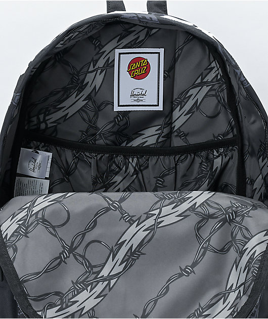 Herschel Supply Co. x Santa Cruz Classic XL Speed Wheels Black Backpack