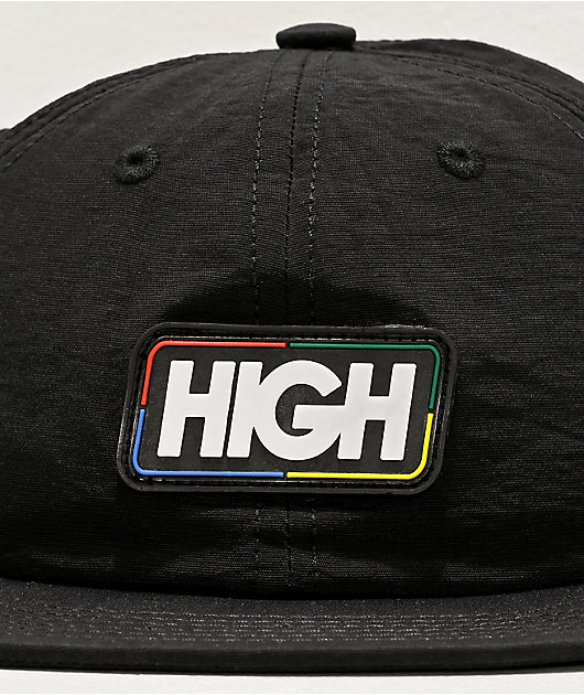 High Company Uno Black Strapback Hat