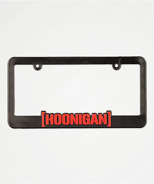 Hoonigan CBar marco de matrícula negro y rojo