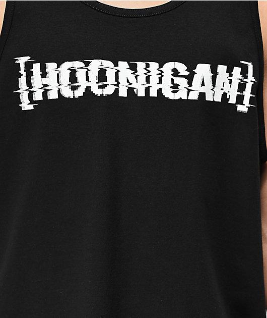 Hoonigan Glitch Bracket Black Tank Top