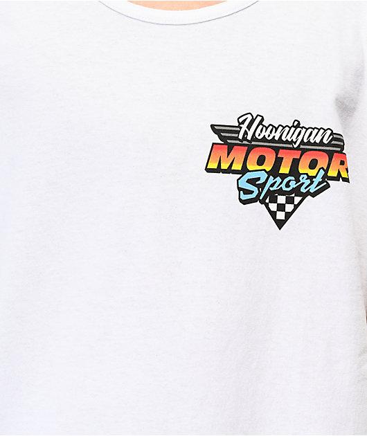 Hoonigan Motorsport White Tank Top