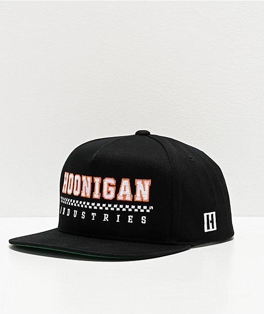 Hoonigan Parc Ferme Black Snapback Hat