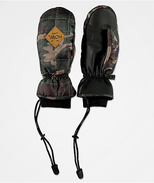 Howl Jed Green Camo Snowboard Mittens