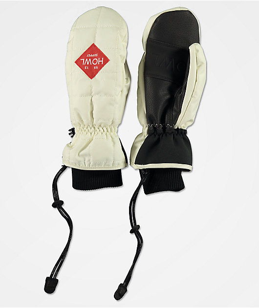 Howl Jed White & Black Snowboard Mittens