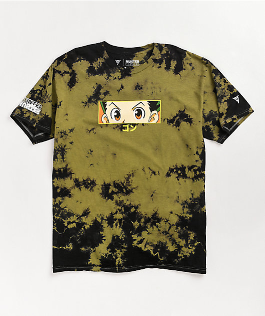 Hypland x Hunter x Hunter Gon Eye Green & Black Tie Dye T-Shirt