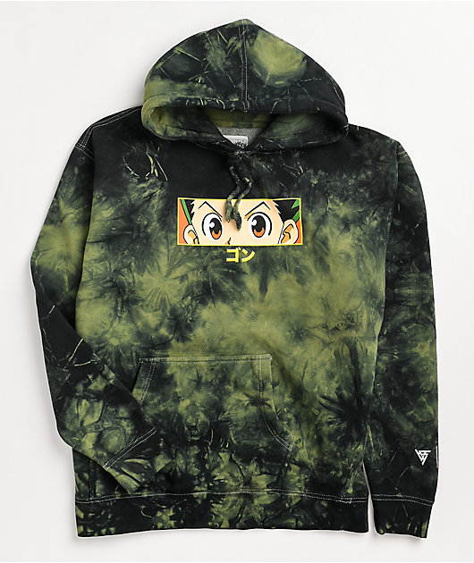 Hypland x Hunter x Hunter Gon Eye Grey Tie Dye Hoodie