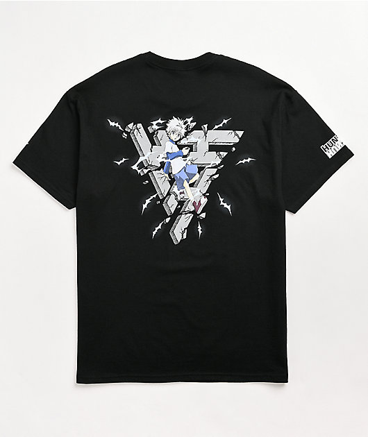 Hypland x Hunter x Hunter Killua Break Black T-Shirt
