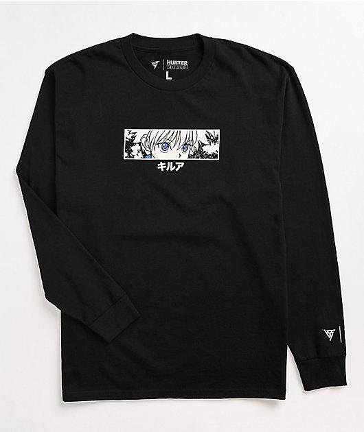 Hypland x Hunter x Hunter Killua Eye Black Long Sleeve T-Shirt