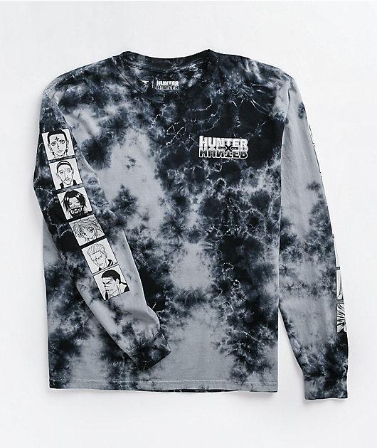 Hypland x Hunter x Hunter Phantom Black Tie Dye Long Sleeve T-Shirt
