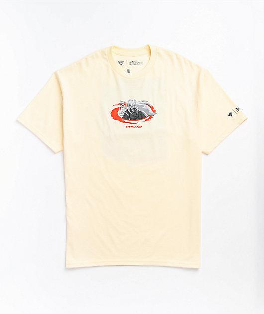 Hypland x InuYasha Flame Cream T-Shirt