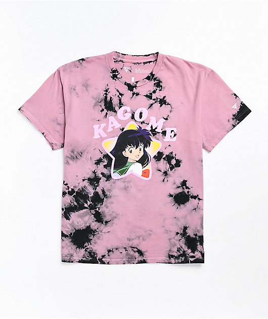 Hypland x InuYasha Kagome Fan Pink Tie Dye T-Shirt