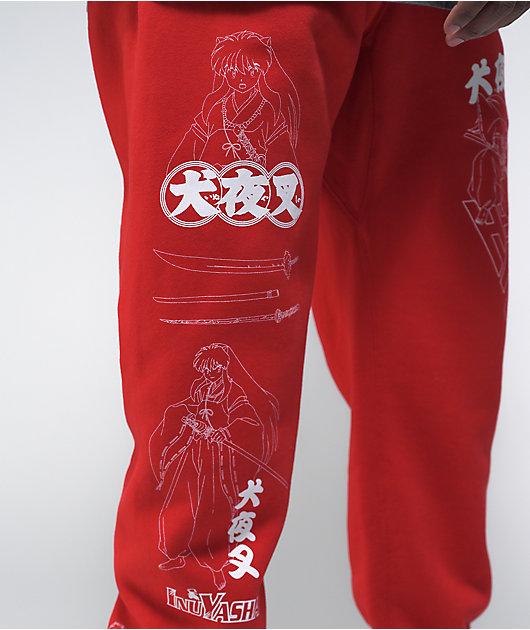 Hypland x InuYasha Red Sweatpants