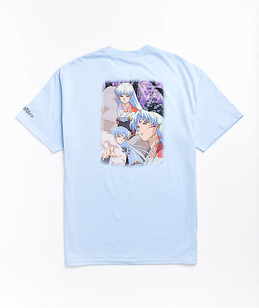 Hypland x InuYasha Sesshomaru Crescent Light Blue T-Shirt