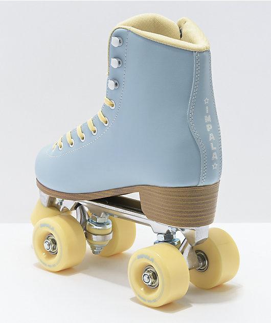 Impala Sky Blue & Yellow Roller Skates
