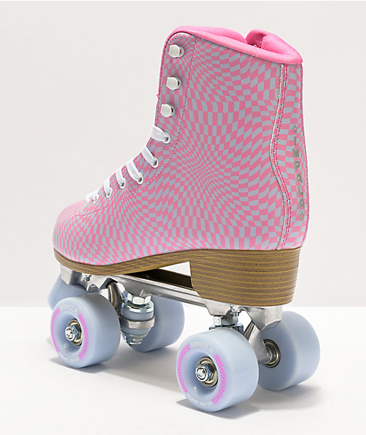 Impala Wavy Check Blue & Pink Roller Skates